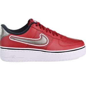 Nike Air Force one red nba shoes lv8